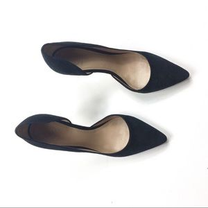 Tory Burch Black Suede Heels Pump 8.5 tq
